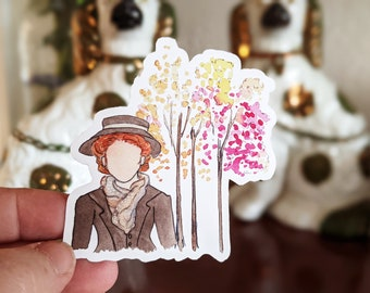 Anne of Green Gables Fall Sticker (I love Octobers) - Waterproof