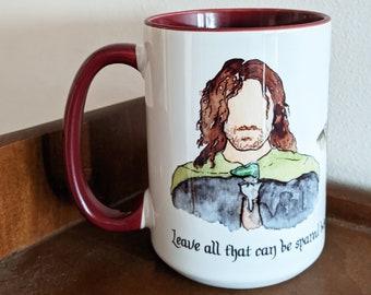 Lord of the Rings Three Hunters (Aragorn, Gimli, Legolas) Large Coffee Mug