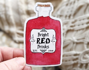 Bright Red Drinks Sticker (Anne of Green Gables, Raspberry Cordial) (Waterproof)