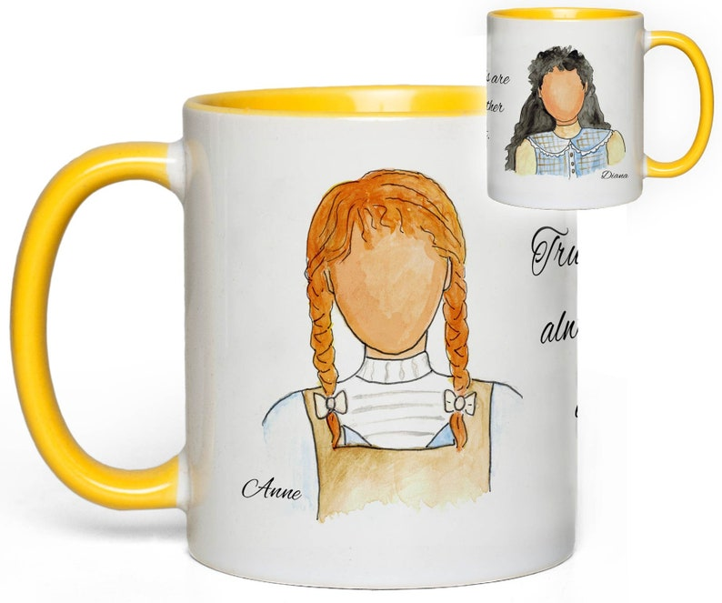 Anne of Green Gables Mug Anne & Diana Friendship Gift image 0