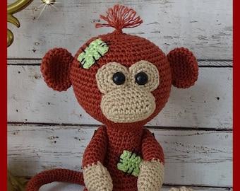 Monkey, Amigurumi crochet plush