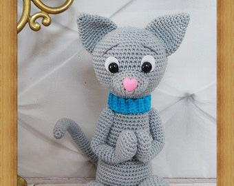 Mr. cat, stuffed crochet, Amigurumi