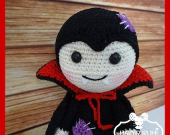 stuffed crocheted Amigurumi Vampire