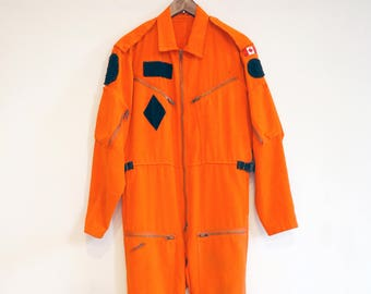 88a9841970a0 Artificial Orange Futurist punk uniform  JUMPSUIT  flight-suit