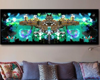 Video Game Wall Art   Huge Canvas   Indie Gaming   Colorful Art   Large Wall Art   Bright Colors   Canadian Art   Extra Large Wall Art