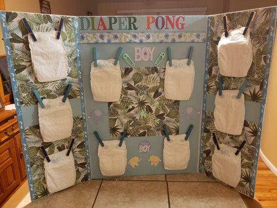 Diaper Pong Baby Shower Game