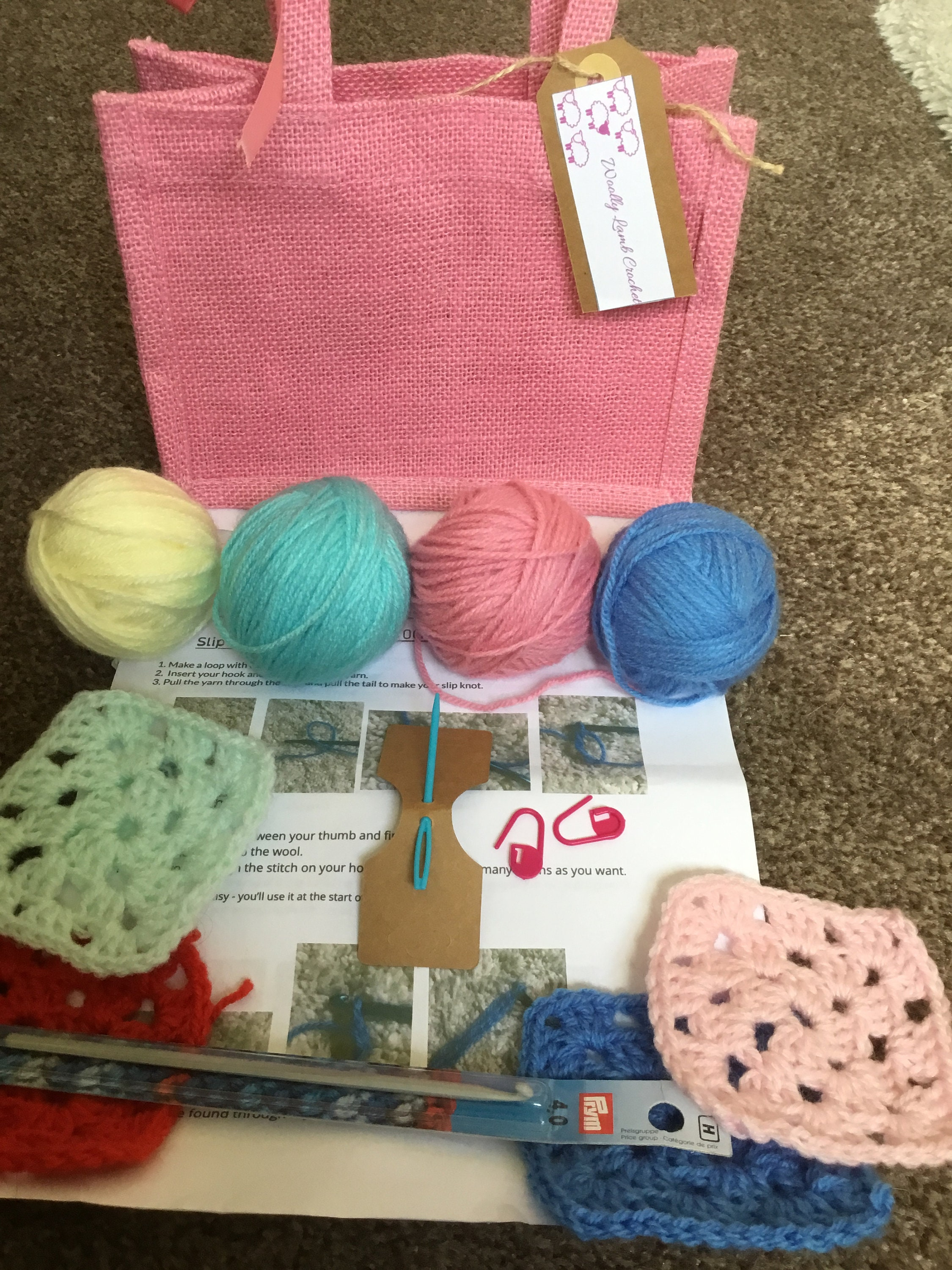 Loops and threads learn to crochet kit