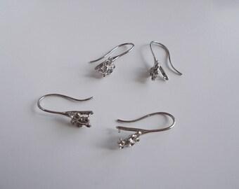 1 set of 4 butterfly earrings