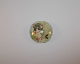 1 cabochon Magnifier with 30 mm retro image