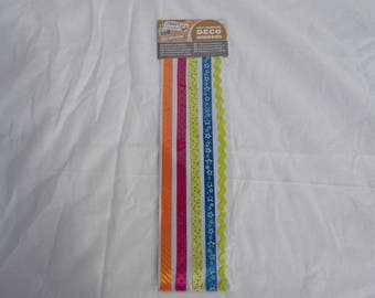 1 set of 5 ribbons stickers 50 x 1 cm.