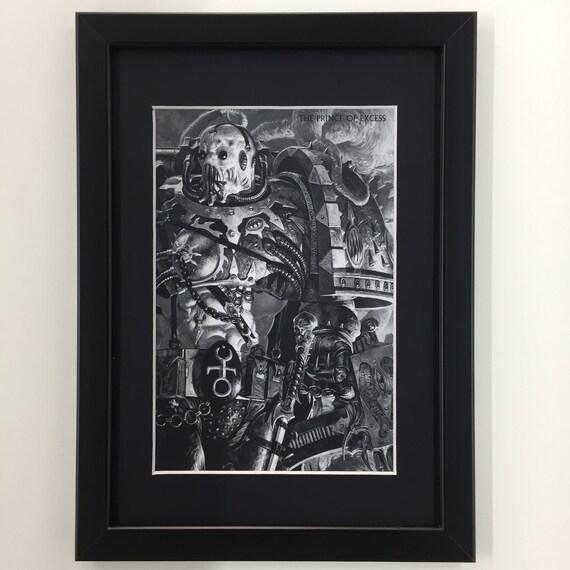 Games Workshop Warhammer 40000 40k Black Library Framed Art Etsy