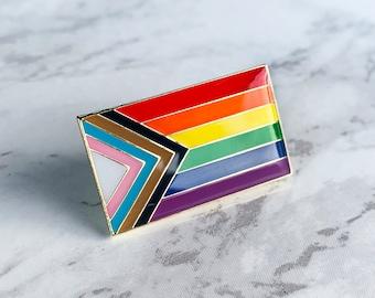"1.5/"" Inclusive Progress LGBTQ Rainbow Pride Flag LGBT Pin Badge Pinback Button"
