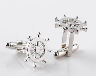 Ships Wheel Cufflinks