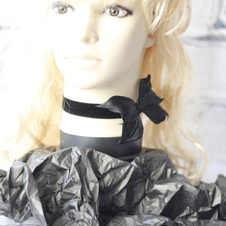 black velvet choker Butterfly choker