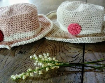 Nice hat with rose