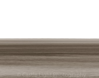 Panoramic giclee print, minimalist seascape, long exposure, wall decor, fine art photography, free uk p&p