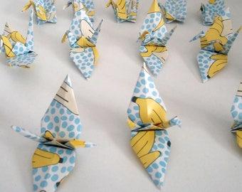 Set of origami cranes: Banana Collection