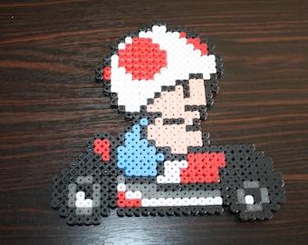 Mario Kart (Toad) Hama beads