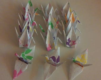Set of origami cranes: bow-tie Collection