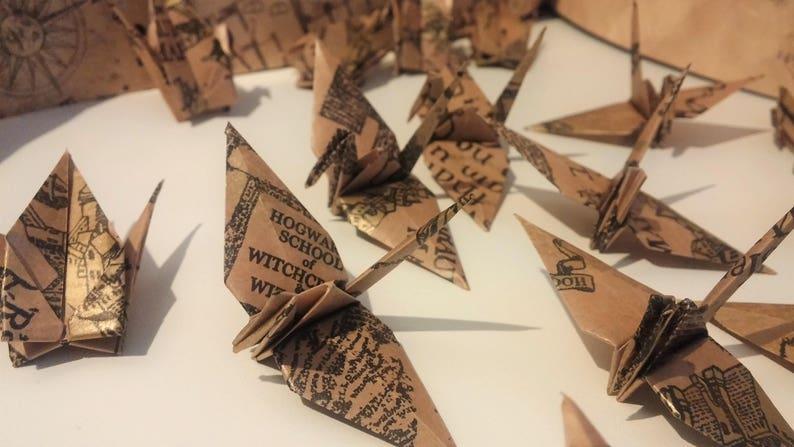 Karte Des Rumtreibers.Viele Der Krane In Origami Die Karte Des Rumtreibers