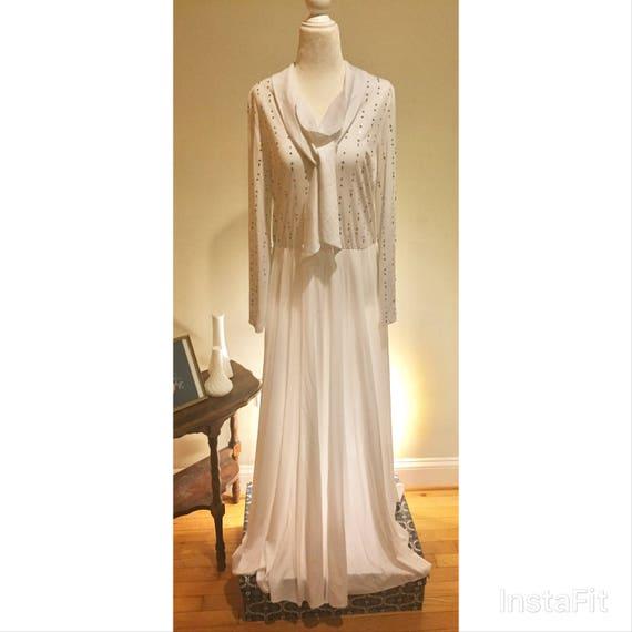 SALE! Vintage Nat Kaplan Couture Dress / Gown Boho