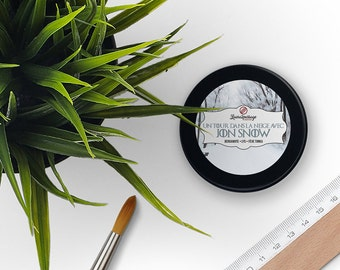 Bookish Candle - Sparkling Soy Wax - Jon Snow - Bergamot • Lilies • Tonka Bean - 100 grams - Cruelty Free • Non GMO
