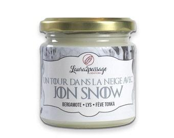 Bookish Candle - Sparkling Soy Wax - Jon Snow - Bergamot • Lilies • Tonka Bean - 175 grams - Cruelty Free • Non GMO