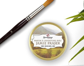 Bookish Candle - Scented Soy Wax - Jamie Fraser - Cedar • Sandalwood • Musk - 50 grams - Cruelty Free • GMO Free