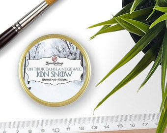 Bookish Candle - Sparkling Soy Wax - Jon Snow - Bergamot • Lilies • Tonka Bean - 50 grams - Cruelty Free • Non GMO