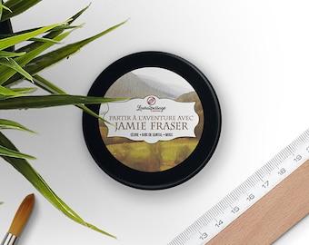 Bookish Candle - Scented Soy Wax - Jamie Fraser - Cedar • Sandalwood • Musk - 100 grams - Cruelty Free • GMO Free