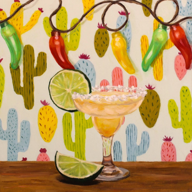 Margarita  Original Oil Painting  Fine Art  Gift  Dessert image 0