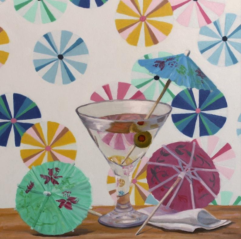 Martini  Original Oil Painting  Fine Art  Gift  Dessert image 0