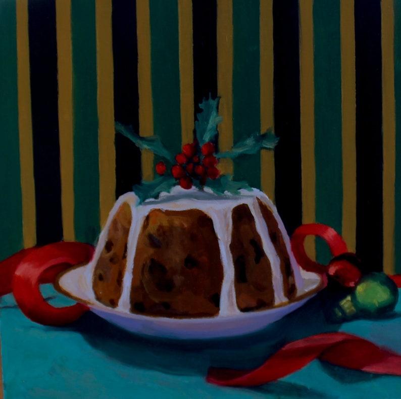 Plum Pudding  Original Oil Painting  Fine Art  Gift  image 0