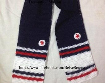 Boy nautical crochet scarves