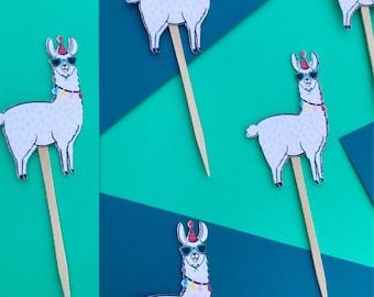 Llama Cupcake Toppers, Llama Party, Party Animal, Llama Party Decor, Llama Party