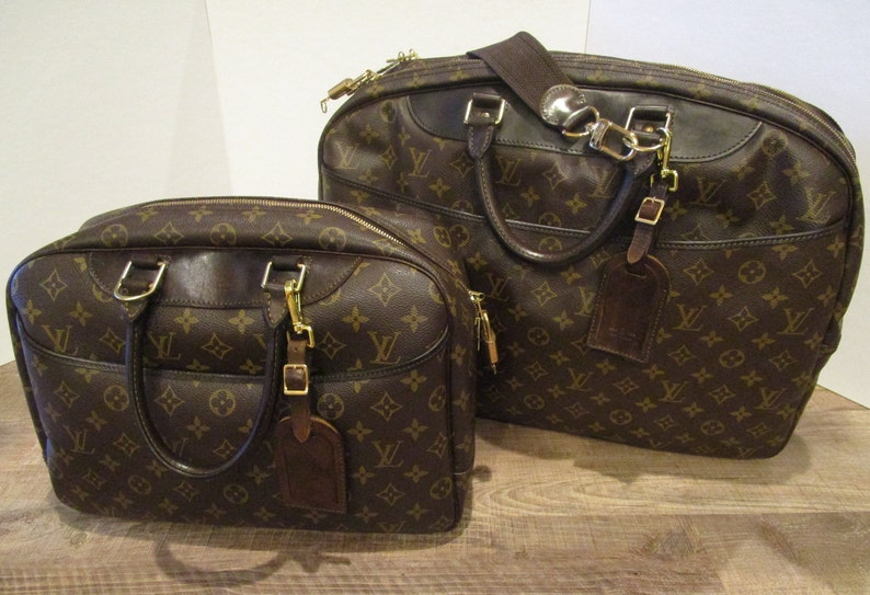 cd5179e0 Lower Price!!! Louis Vuitton Deauville and Louis Vuitton Alize 24 Heures  Luggage Set