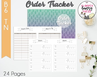 PRINTABLE Order Tracker Insert B6 TN   Online Shopping   Coupon Code List