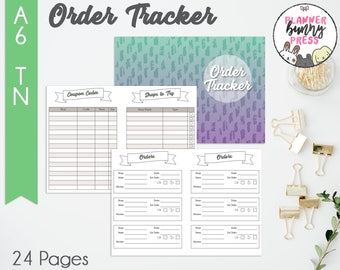 PRINTABLE Order Tracker Insert A6 TN   Online Shopping   Coupon Code List