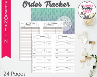 PRINTABLE Order Tracker Insert Personal TN   Online Shopping   Coupon Code List