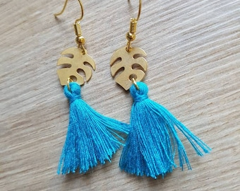 Lovely gold and turquoise earrings