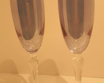 Classic Blue Wine Glasses