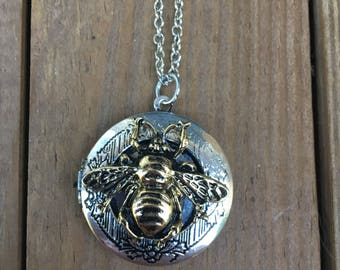 Bee Locket Necklace