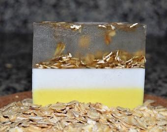 Honey, Almond, and Oats Soap Bar ( Homemade)