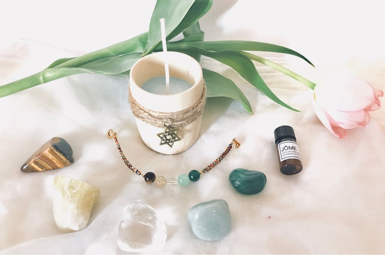 Money Attraction Set, Law Of Attraction for Money, Money Drawing Bracelet,  Money Oil Candle Abundance, Success, Healing Crystals, Wealth