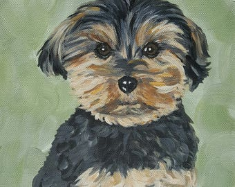 Custom Pet Portrait, Dog Painting, Canvas Painting, Unique Gift, Pet Memorial, Pet Art