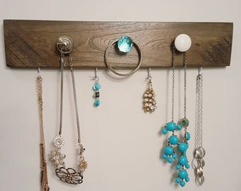 Rustic Reclaimed Jewelry Organizer/Hanger