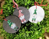 Gnome Christmas - Farmhouse Christmas Ornament - Rustic Christmas Ornaments