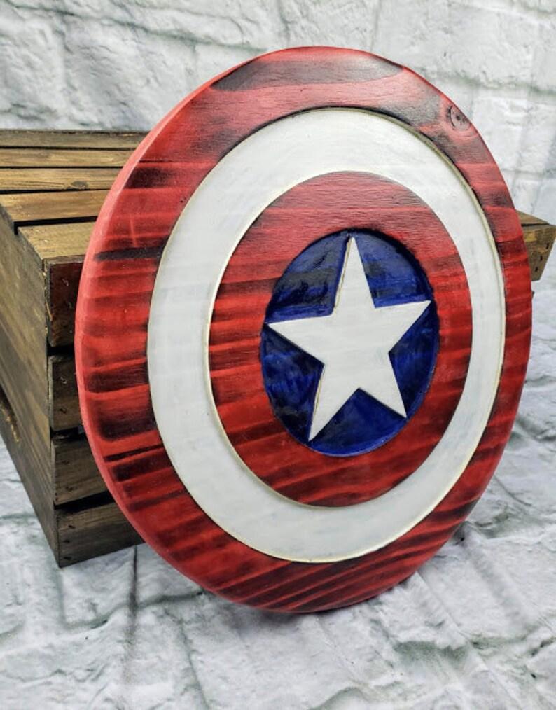 Wooden Captain America Shield Decor