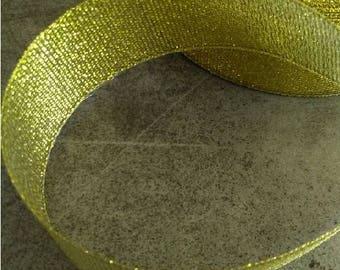 Organza Ribbon gold 25 mm