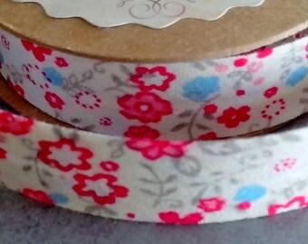 Fabric Ribbon 1.5 cm adhesive Liberty cotton for scrapbooking